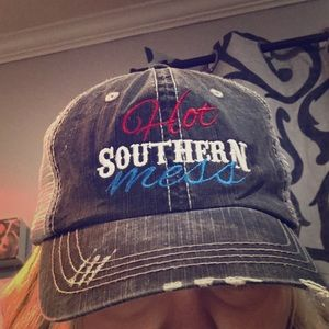 Accessories - New Hot Southern Mess Trucker hat women.